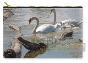 Swan Family Outting  Carry-all Pouch