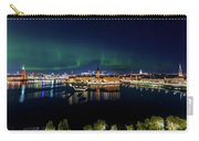 Swirly Aurora Over Stockholm And Gamla Stan Carry-all Pouch