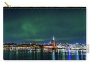 Swirly Aurora Over The Stockholm City Hall And Kungsholmen Carry-all Pouch