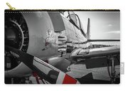 T-28b Trojan In Selective Color Carry-all Pouch by Doug Camara