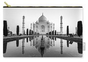 Taj Mahal In Black And White Carry-all Pouch