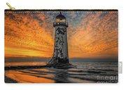Talacre Beach Lighthouse Sunset Carry-all Pouch