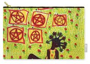 Tarot Of The Younger Self Eight Of Pentacles Carry-all Pouch