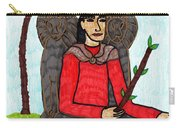 Tarot Of The Younger Self King Of Wands Carry-all Pouch