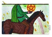 Tarot Of The Younger Self Knight Of Pentacles Carry-all Pouch