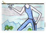 Tarot Of The Younger Self Queen Of Swords Carry-all Pouch