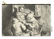 Tavern Man Caressing A Woman Carry-all Pouch