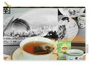 Tea Collage With Brush  Carry-all Pouch