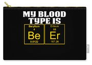 Teachers Assistant Design Blood Type Is Beer Gold Carry-all Pouch