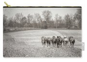 Team Of Six Horses Tilling The Fields Carry-all Pouch