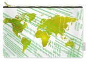 Tech Worldmap With Binary Code Carry-all Pouch