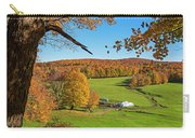 Tending To The Farm Woodstock Vermont Vt Vibrant Autumn Foliage Yellow And Orange Carry-all Pouch