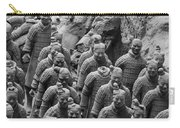 Terra Cotta Warriors In Black And White, Xian, China Carry-all Pouch