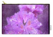 Testrured Rhododendrons Carry-all Pouch by Susan Leonard