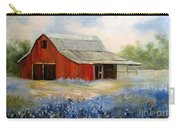 Texas Blue Bonnets And Red Barn Carry-all Pouch