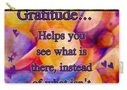 Text Art Gratitude Carry-all Pouch