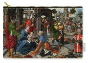 The Adoration Of The Magi With Donor  Carry-all Pouch