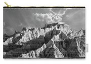 The Badlands In Black And White Carry-all Pouch
