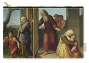 The Banishment Of Hagar  By Johann Friedrich Overbeck Carry-all Pouch