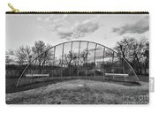 The Baseball Field Black And White Carry-all Pouch