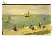 The Beach At Petit-dalles Also Known As On The Beach - 1873 - Virginia Museum Of Fine Arts Usa Carry-all Pouch