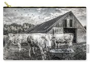 The Cows Came Home Black And White Carry-all Pouch