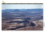 The Green River Runs Through A Deep Canyon At Canyonlands Nation Carry-all Pouch