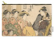 The Oiran Kasugano Of Ogiya On Parade Under Blossoming Cherry Trees Carry-all Pouch