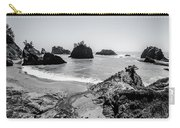 The Oregon Coast In Black And White Carry-all Pouch by Margaret Pitcher