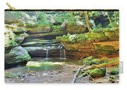 The Waterfall In Old Man's Cave Hocking Hills Ohio Carry-all Pouch