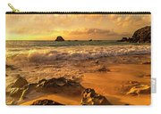 Thoughtful Morning Golden Coastal Paradise  Carry-all Pouch