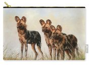Three African Wild Dogs Carry-all Pouch