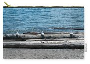 Three Gulls On A Log Carry-all Pouch