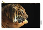 Tiger On Black Carry-all Pouch by Alison Frank