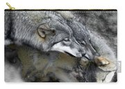 Timber Wolves Up Close Carry-all Pouch