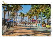 Times Square In Fort Myers Beach Florida Carry-all Pouch