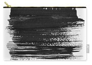Tokyo Skyline Brush Stroke Black Carry-all Pouch