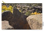 Top Of Rocks Above Canyon In Fall Carry-all Pouch