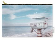 Torrey Pines Beach Lightguard Station Number 5 Carry-all Pouch by Wendy Fielding