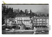 Town In The Shore Of Lake Como In Black And White Carry-all Pouch