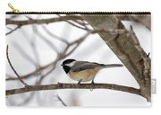 Tranquil Winter Chickadee Carry-all Pouch