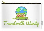 Travel With Wendy Carry-all Pouch
