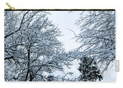 Trees With Snow Carry-all Pouch
