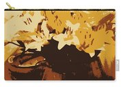 Tri Tone Flowers Carry-all Pouch