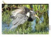 Tricolored Heron With Ruffled Feathers Carry-all Pouch