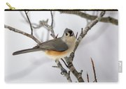 Tufted Titmouse Winter Tranquility Carry-all Pouch