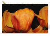 Tulips On A Black Background Carry-all Pouch