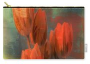 Tulips With Green Background Carry-all Pouch