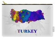 Turkey, Map, Artist Singh Carry-all Pouch