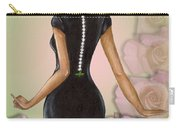 Twenty Pearls N Pink Roses Carry-all Pouch